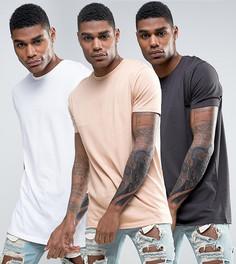 3 длинных футболки ASOS - СКИДКА - Мульти