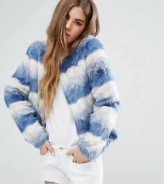 Джинсовая куртка без воротника Unreal Fur Dream - Синий