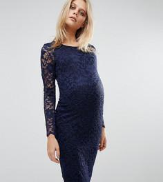 Кружевное облегающее платье Queen Bee - Темно-синий