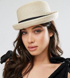 Соломенная шляпа-котелок Glamorous - Бежевый