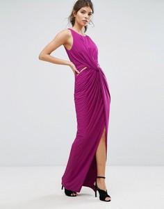 Платье макси с запахом и разрезом Forever Unique - Розовый