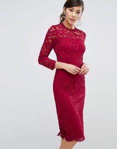Кружевное облегающее платье Coast Cassia - Красный