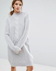 Платье-джемпер с добавлением шерсти альпака Gestuz Sanni - Серый