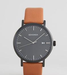 Часы со светло-коричневым кожаным ремешком и серым циферблатом Sekonda эксклюзивно для ASOS - Рыжий
