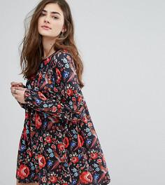 Свободное платье с цветочным принтом Missguided - Мульти