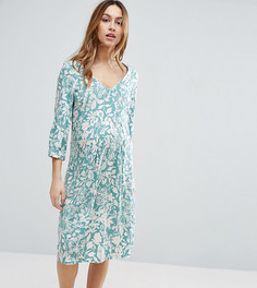 Чайное платье с цветочным принтом Mamalicious - Мульти Mama.Licious