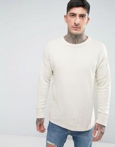 Трикотажный джемпер с заниженной линией плеч Another Influence - Серый