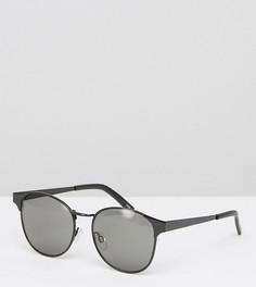 Солнцезащитные очки в круглой металлической оправе Monki - Черный