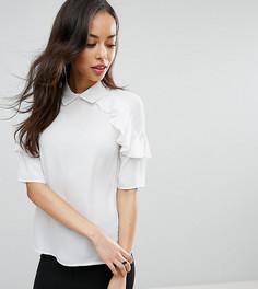 Блузка с оборками Fashion Union Tall - Белый