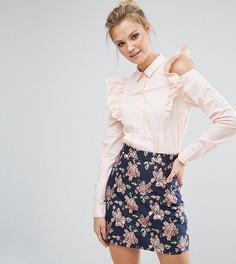 Рубашка с оборками на плечах Fashion Union Tall - Розовый