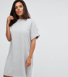 Платье-футболка ASOS CURVE Ultimate - Серый