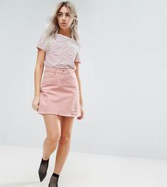 Розовая джинсовая юбка с рваной отделкой Urban Bliss Petite - Розовый