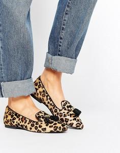 Замшевые туфли на плоской подошве с кисточками Park Lane - Мульти