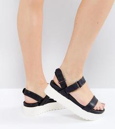 Сандалии в спортивном стиле для широкой стопы на платформе New Look - Черный