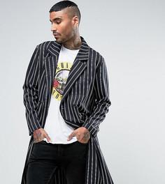 Длинный пиджак в полоску Reclaimed Vintage Inspired - Темно-синий
