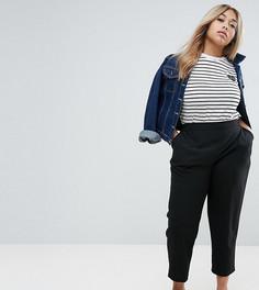 Тканые брюки галифе без застежки ASOS CURVE - Черный