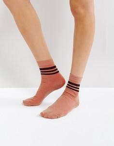 Носки с блестящими полосками ASOS - Золотой