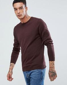 Джемпер из хлопка и шелка с круглым вырезом Selected Homme - Красный
