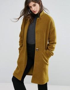Пальто-кокон с добавлением шерсти Native Youth - Желтый