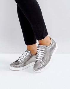 Кожаные кроссовки Carvela - Серебряный