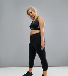 Черные леггинсы капри с завышенной талией Nike Plus Training Power Legendary - Черный