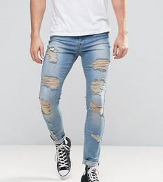 Светлые джинсы с рваной отделкой Brooklyn Supply Co Grunge - Синий