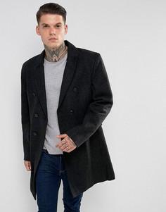 Двубортное пальто с добавлением шерсти Bellfield - Черный