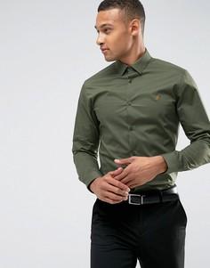 Приталенная рубашка из поплина Farah - Зеленый