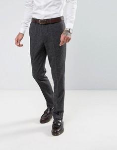 Серые зауженные брюки в крапинку Harry Brown - Серый