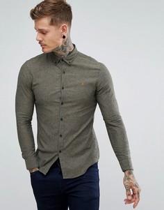 Зеленая узкая рубашка Farah - Зеленый