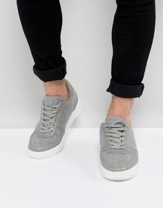 Серые кроссовки на массивной подошве ASOS - Серый