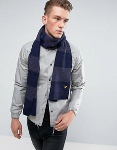Трикотажный шарф в полоску Lyle & Scott - Фиолетовый