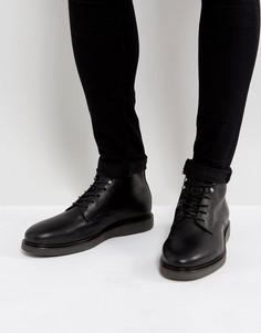 Кожаные ботинки на шнуровке Hudson London - Черный