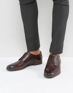 Коричневые туфли со шнуровкой Hudson London - Черный
