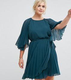 Платье мини с рукавами клеш ASOS CURVE - Зеленый