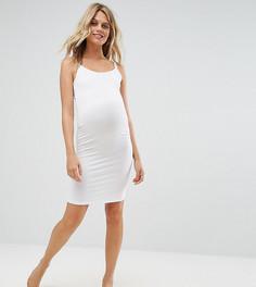 Платье миди на бретельках ASOS Maternity NURSING - Белый
