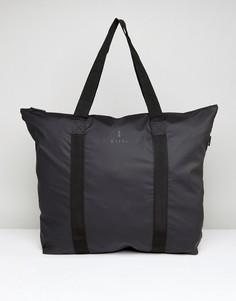 Черная сумка-тоут Rains - Черный