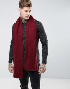 Красный вязаный шарф Dr Martens - Красный