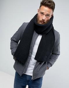 Черный вязаный шарф Dr Martens - Черный