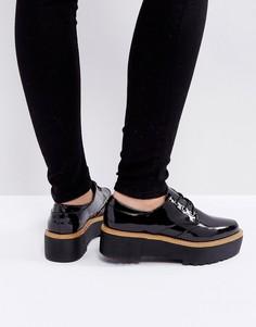 Туфли на шнуровке с массивной подошвой Sixtyseven - Черный