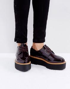 Туфли на шнуровке с массивной подошвой Sixtyseven - Красный