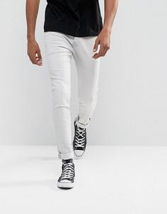 Светло-серые джинсы скинни AllSaints - Серый