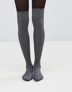 Носки с имитацией гольфов Pretty Polly Secret - Серый