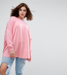 Легкий свободный свитшот ASOS CURVE - Розовый