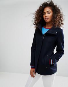 Шерстяное пальто с молнией Esprit - Синий