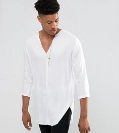 Белая рубашка из вискозы классического кроя ASOS TALL - Белый