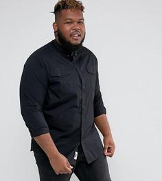 Черная джинсовая рубашка с карманами Duke PLUS - Черный