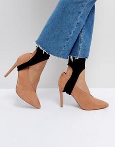 Однотонные носки со штрипками ASOS - Черный