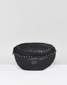 Сумка-кошелек на пояс с заклепками Spiral - Черный
