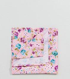 Розовый платок для пиджака с цветочным принтом Reclaimed Vintage Inspired - Розовый